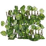 Adminitto88 Sichtschutzhecke Gartensichtschutz Künstliche Hecke Hängepflanzen Efeu Rebe Wand...