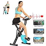 ANCHEER F-Bike, Klappbar Heimtrainer mit APP-Simulationsspiel, Fitness Fahrrad mit 10...