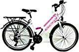 KRON 24 Zoll Mdchenfahrrad Damenfahrrad Kinderfahrrad RH ca 42cm City Bike Weiss Pink NEU