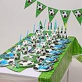 MRSGG Party liefert Einweggeschirr, Fußball-Geburtstagsfeier-Geschirrset, natürliches...