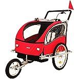 DMS® Fahrradanhänger 2 in 1 Kinderanhänger Fahrrad Anhänger Jogger Radanhänger Kinderwagen...