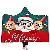 TianTian Tat Mit Kapuze Decke Weihnachten Winter warm Bad Mantel Flanell tragbare Kinder Erwachsene...