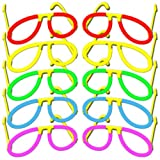 10x Knicklichter Piloten - Brille | Farbmix