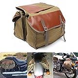 Alamor Motorrad Canvas Satteltaschen Equine Rucksack Für Haley Sportster/Honda