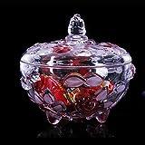 JANRON Bonboniere Glasschale Kristallschale mit Klarglas Vorratsglser Glasbox mit Deckel...