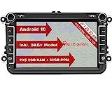 M.I.C. AV8V6-lite Android 10 Autoradio mit navi Ersatz für VW Golf t5 touran Passat RNS RCD Skoda...