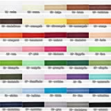 Jajasio Baumwoll Schrägband 25mm breit in 40 Farben, Einfassband Baumwolle Nahtband/Farbe: 40 -...