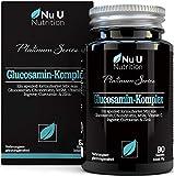 Glucosamin & Chondroitin Hochdosiert, MSM, Vitamin C, Ingwer, Kurkuma und Zink   90...