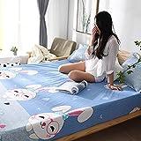 unknow Baumwolle Laken Ausreichend 180x200 cm, Laken Glatt Mit Cartoon Kaninchen Muster...