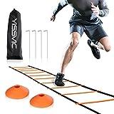 Yissvic Sport Trainingsleiter Dauerhafte Fußball Koordinationsleiter 6m 12 Rungs Inklusive...