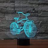 Cartoon Mountainbike Tischlampe Wohnzimmer Offroad Motorrad Lokomotive Harley 3D LED Nachtlicht...