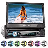 XOMAX XM-D750 Autoradio mit 18 cm / 7' Touchscreen I DVD, CD, USB, AUX I RDS I Bluetooth I Anschlsse...
