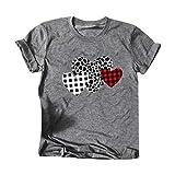 KIMODO Frauen Valentinstag Casual Herz Print Slim Kurzarm T-Shirt Tops Mode O-Ansatz S-3XL Lose...