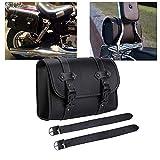 Motorrad Satteltasche PU-Leder Werkzeug Rolle Motor Side Gepäck Travel Tool Hecktasche mit 2...