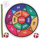 Toyvian 1 Set Dartspiel Set Sticky Dartboard Spielset mit 2 Stück Bällen für Kinder Erwachsene...