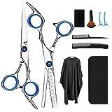 Haarschere, Scheren-Sets, Friseurscheren aus Edelstahl zum Ausdünnen und Strukturieren, Modellieren...