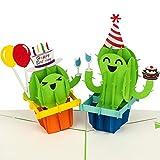 """PaperCrush® Pop-Up Karte Geburtstag """"Happy Birthday Kakteen"""" - Lustige 3D Geburtstagskarte für..."""
