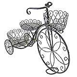 DENGTU Kang-JZ Schmiedeeisen-Blumen-Stand- / Betriebsstand, dreirädriges Fahrrad-Retro-...