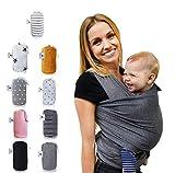 Fastique Kids Tragetuch - elastisches Babytragetuch fr Frh- und Neugeborene inkl. Baby Wrap Carrier...