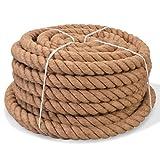 Tidyard Seil 100% Jute Bindeschnur Juteseil 30 mm 50 m Mehrzweckseil Tauwerk Seil Reiß- und...