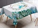 GLLCYL Abwaschbar Tischdecke Eckig Lotuseffekt Wasserdicht Segeltuch Tischtuch Fleckschutz...
