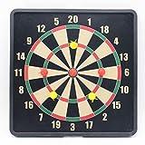 HLDBW Safe Magnetic Dart Board Set Kunststoff Dart Zieldoppelseitig Dartboard mit 6 Stück...