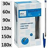 Kugelschreiber blau 30 Stück   Markenqualität   Ballpointmiene   Schreibfarbe blau - Stift...