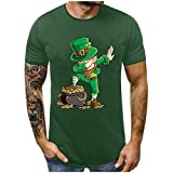 LUCKDE-HERREN Unisex Kurzarm Fun T-Shirt St. Patricks Day Green Shirt Bedruckt Funshirt T-Shirt...