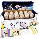 Dino Ausgrabungsset Kinder, Vintoney 12 Stück Dinosaurier Eier Ei Figuren Spielzeug Spiele...