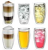 "Creano doppelwandiges Thermoglas 250ml ""DG-SH"", großes Doppelwandglas aus Borosilikatglas,..."