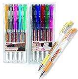 edding 2185 Gel-Roller (Standardfarben, Metallicfarben & Pastellfarben) 0,7mm (12 verschiedene...