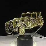 Kreative Nachtlicht Kinderzimmer Nachttischlampe Opa Auto Form Geschenk für Papa Opa Speicher...