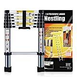 Nestling® Teleskopleiter 2M Alu Leiter Ausziehbar Haushaltsleiter Teleskopleiter Aluminium...