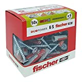 Fischer–Dübel Duopower mit Schraube, grau, 544016