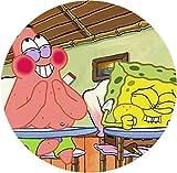 Spongebob Tortenaufleger, Rund A4 - Geburtstag Tortenbild Zuckerbild Tortenplatte Oblate...