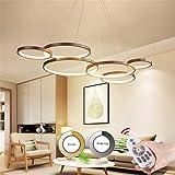 Moderne LED Pendelleuchte Dimmbar Mit Fernbedienung Hängeleuchte Pendellampe Höhenverstellbar...