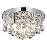 Style home Kristall Kronleuchter Deckenleuchte, 3 Flamming Deckenlampe Hängeleuchte für Wohnzimmer...