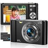 Vnieetsr Digitalkamera 2,7K Ultra HD Mini-Videokamera 44MP 2,8 '' LCD Wiederaufladbare Fotokamera...