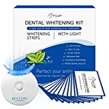 40pcs White Stripes mit LED Zahnaufhellung Licht, BESTOPE Teeth Whitening Kit Bleaching Strips...
