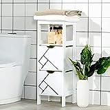 Badschrank mit 2 Schubladen, Kommode Badzimmer Schrank, Badzimmerschrank Nachttisch Regal...
