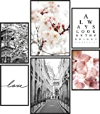 Papierschmiede® Premium Poster Set Frühling | 6 Bilder als stilvolle Wanddeko | 2X DIN A4 und 4X...