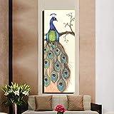 sanzangtang Groe abstrakte Moderne Pfau Leinwand Malerei rahmenlose Pop Tier Familie Dekoration...