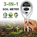 Sinicyder Bodentester, 3 in 1 Boden-pH-Messgerät, Boden Feuchtigkeit Meter für...