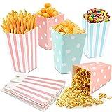 PapiertüTen,Popcorn TüTen,Candy Bar TüTen,Popcorn Boxes 60pcs,Popcorn TüTe Candy Container FüR...