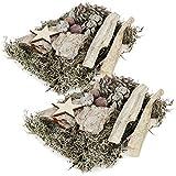 com-four® 300g Streudeko - getrocknetes natürliches Dekorations- und Bastelmaterial aus Moos,...
