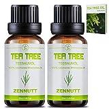 2 PACK Teebaumöl 100% Teebaum Öl Ätherische Öle Bio Naturrein Set für Shampoo Körper,Duft-Sets...