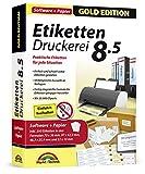 Etiketten Druckerei 8.5 + 590 Etiketten GRATIS für Windows 10, 8.1, 7, Vista - Praktische Etiketten...