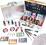 Schne Kosmetik Make-up ALU Koffer mit Reliefmuster Cosmelux Schminkkoffer 42 tlg gefllt(e941)