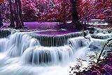 CHengQiSM Puzzles für Erwachsene 1000 Stück, aktualisierte Version 27,5 x 19,7 Zoll Wasserfall im...