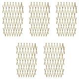 Festnight 5er-Set Ausziehbarer Spalierzaun aus Holz Zaunelement Rankhilfe 180 x 90 cm